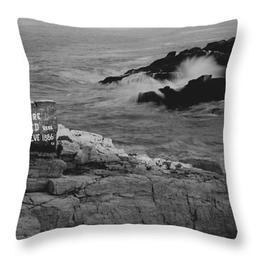 Wreck Site Throw Pillow by Rick Frost