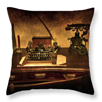 Writers Desk Throw Pillow by Svetlana Sewell