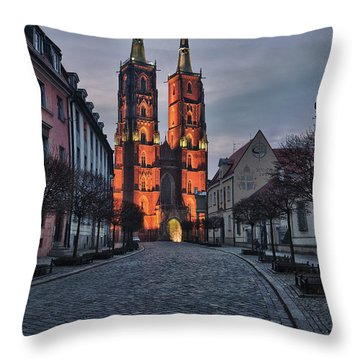 Wroclaw Cathedral Throw Pillow