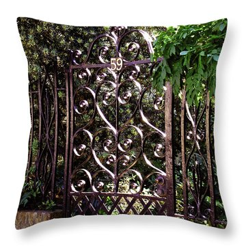 Throw Pillow featuring the photograph Wrought Iron by Jean Haynes