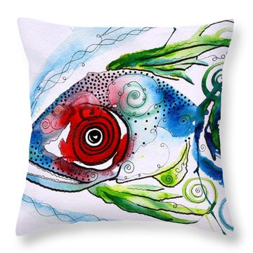 Wtfish 001 Throw Pillow by J Vincent Scarpace