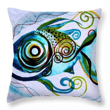 Wtfish 006 Throw Pillow