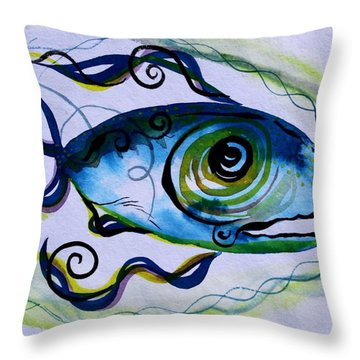 Wtfish 009 Throw Pillow by J Vincent Scarpace