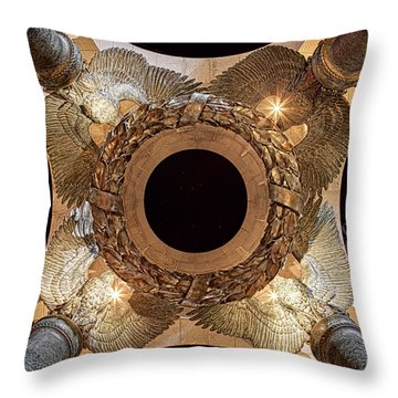 Ww II Memorial Victory Wreath Throw Pillow