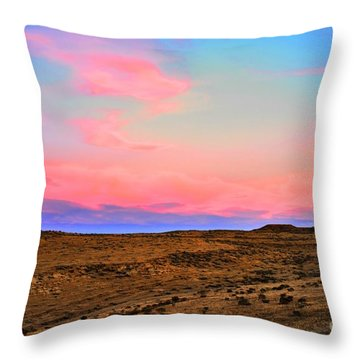 Wyoming Lights Throw Pillow