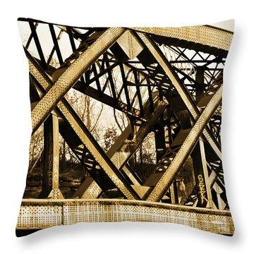 X-ing Throw Pillow by Luke Moore