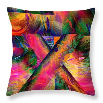 X Marks The Spot Throw Pillow by Paula Ayers