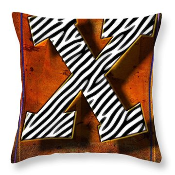 X Throw Pillow by Mauro Celotti