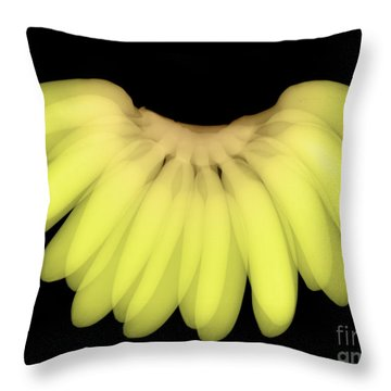 X-ray Of Bananas Throw Pillow by Ted Kinsman