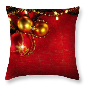 Xmas Frame Throw Pillow by Carlos Caetano