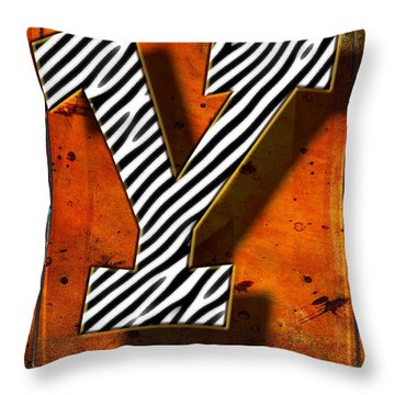 Y Throw Pillow by Mauro Celotti