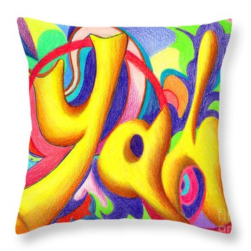 YAH Throw Pillow