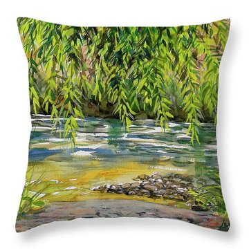 Yakima River Throw Pillow