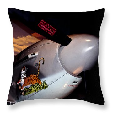 Yakovlev Yak-9u Frank Throw Pillow by David Patterson