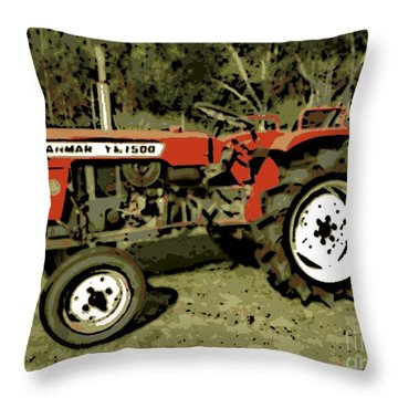Yanmar Throw Pillow by George Pedro