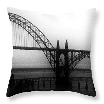 Yaquina Bay Throw Pillow