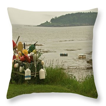 Yard Art Throw Pillow by Paul Mangold