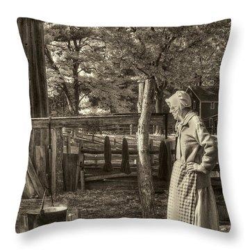 Yarn Dyeing Throw Pillow by Joann Vitali