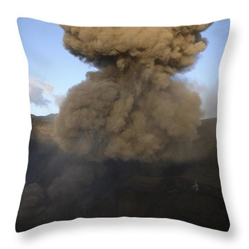 Yasur Eruption, Tanna Island, Vanuatu Throw Pillow by Martin Rietze