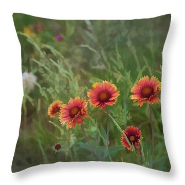 Throw Pillow featuring the photograph Yawn...more Flowers by John Crothers