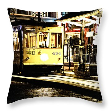 Ybor Train Throw Pillow