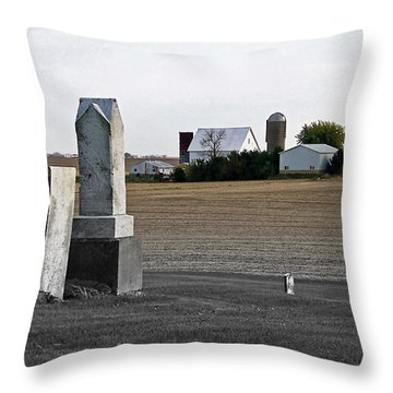 Ye Olde Farmstead Throw Pillow by Sue Stefanowicz