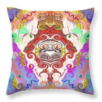 Throw Pillow featuring the digital art Year Of The Dragon by Alec Drake