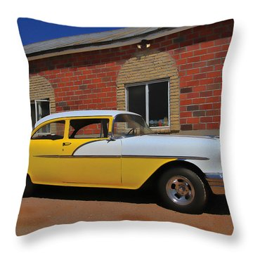 Yellow Beast Throw Pillow by Joel Witmeyer