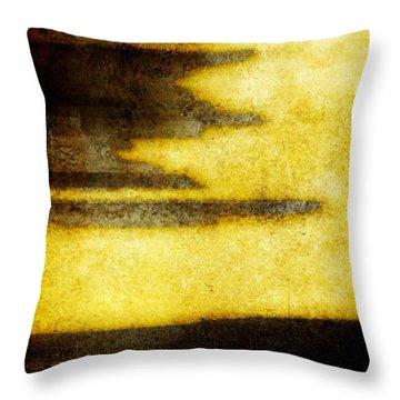 Yellow Throw Pillow by Brett Pfister