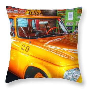 Yellow Cab No.29 Throw Pillow by Dan Stone