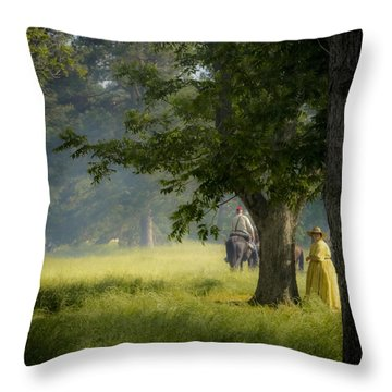 Yellow Dress Throw Pillow