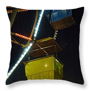 Throw Pillow featuring the photograph Yellow Ferris Wheel Bucket by Renee Trenholm