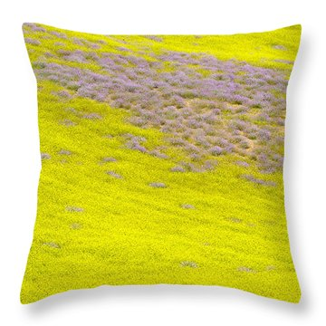 Yellow Fields Throw Pillow by Guido Montanes Castillo