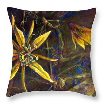 Yellow Passion Throw Pillow