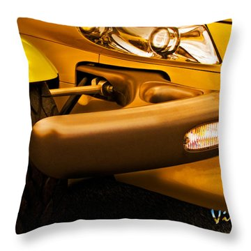 Yellow Prowler Detail Throw Pillow by Chas Sinklier