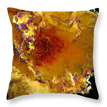 Yellow Rose Art Throw Pillow by Debbie Portwood