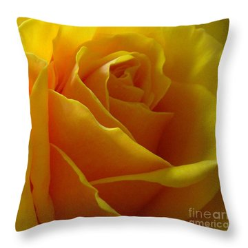 Yellow Rose Of Texas Throw Pillow by Sandra Phryce-Jones