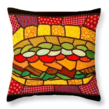Yellow Submarine Throw Pillow by Jim Harris