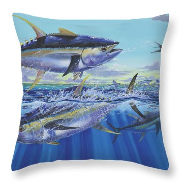 Yellowfin Bust Throw Pillow by Carey Chen