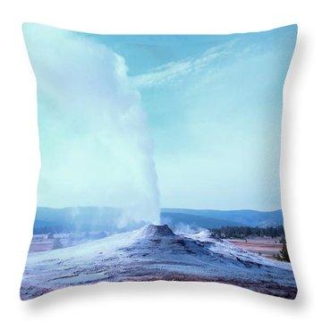 Yellowstone Geyser Throw Pillow