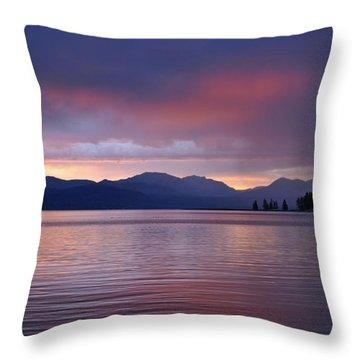 Yellowstone Lake Sunrise IIi Throw Pillow