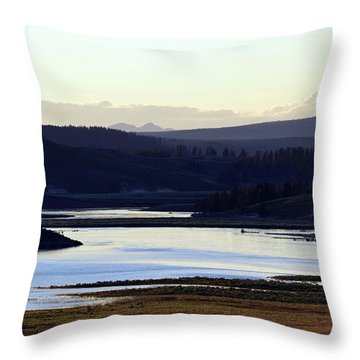 Yellowstone Landscapes Throw Pillow
