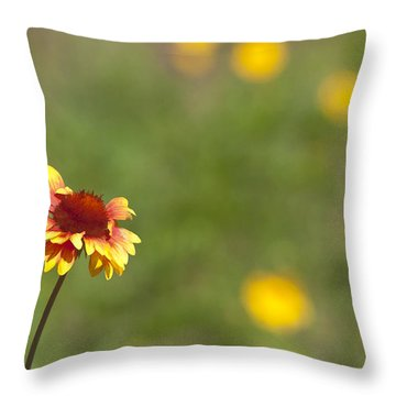 Throw Pillow featuring the photograph Yep...a Flower by John Crothers