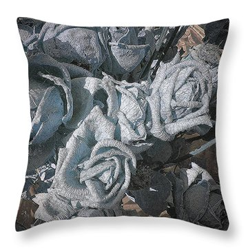 Yesterday Roses Throw Pillow