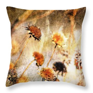 Yesterday's Flowers Throw Pillow