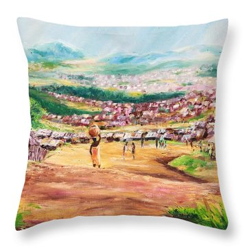 Yesteryears Throw Pillow by Uly Ogwah
