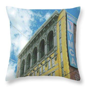 Throw Pillow featuring the photograph Ymca by Lizi Beard-Ward