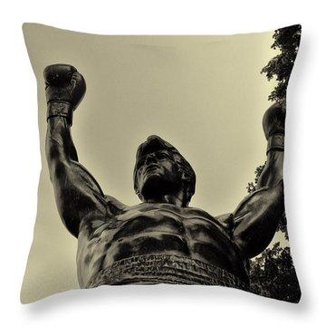 Yo Rocky Throw Pillow by Bill Cannon