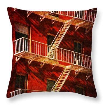 Throw Pillow featuring the photograph York Avenue by Deborah Smith