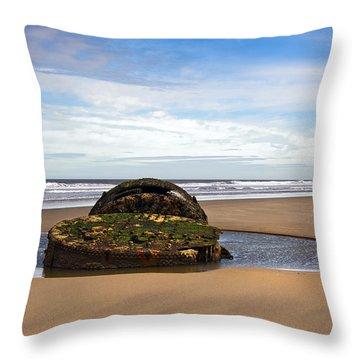 Yorkshire Coast Throw Pillow by Svetlana Sewell